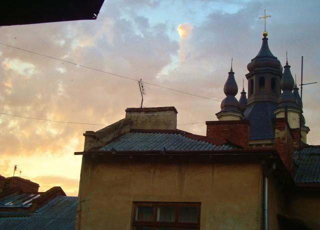View of magical Armenian Catholic Church from Megan's