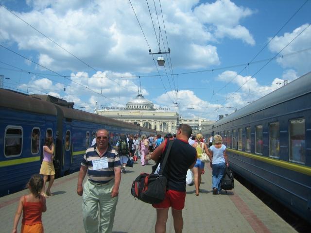 The hot Odessa train station, 2009